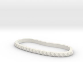 Studded Palm Cuff in White Natural Versatile Plastic: Medium