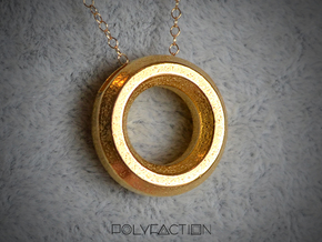 Chisel ::: Circle Pendant ::: v.01 in Polished Gold Steel
