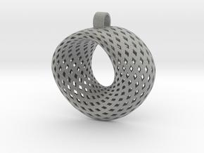 Möbius for pendant in Metallic Plastic