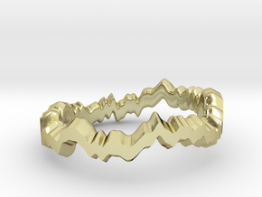 Noise ring II (US sizes 1.5 – 5.5) in 18k Gold Plated Brass: 5.5 / 50.25