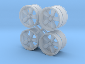 A/R 1/25 200S wheel set 15 inch in Smooth Fine Detail Plastic