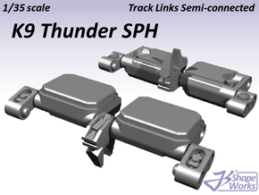 1/35 K9 Thunder SPH Track Links semi-connected in Smooth Fine Detail Plastic
