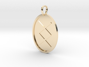 Ing Rune (Anglo Saxon) in 14k Gold Plated Brass