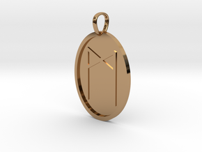 Man Rune (Anglo Saxon) in Polished Brass