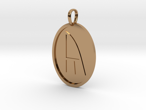 Yr Rune (Anglo Saxon) in Polished Brass