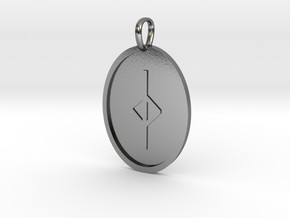 Jear Rune (Anglo Saxon) in Polished Silver