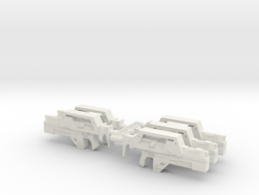 28mm M41a Pulse Rifle (x5) in White Strong & Flexible