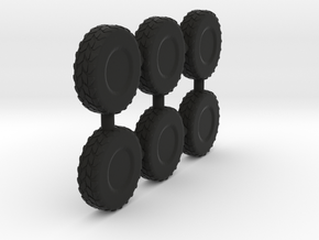 1/87 Scale Cougar Wheel in Black Natural Versatile Plastic