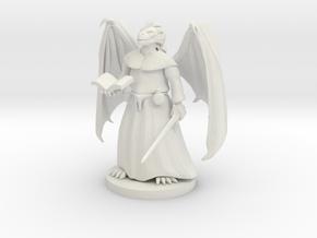 Dragonborn Priest in White Natural Versatile Plastic