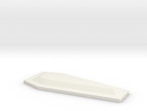 "1"" long coffin_lid_b in White Natural Versatile Plastic"