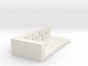 1x2_Corner in White Natural Versatile Plastic