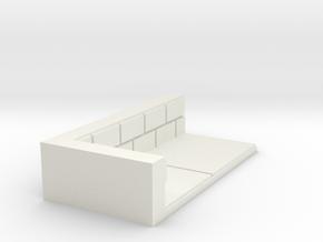 1x2_Corner in White Natural Versatile Plastic