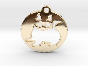 Look twice--Is it a kitten or a Kat? in 14K Yellow Gold
