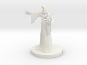 Human Male Sorcerer in White Natural Versatile Plastic