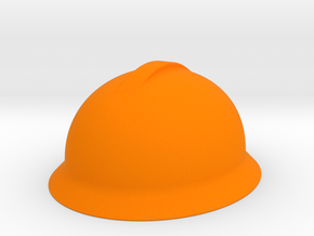 Engineer Hard Hat Miniature  in Orange Processed Versatile Plastic