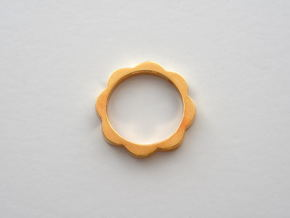 Flower Power Ring XS, S, M, L, XL in Polished Brass: Extra Small