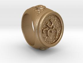 Trinity Ring in Matte Gold Steel