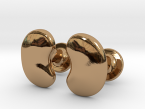 Milnerfield Salk Cufflinks - Pair in Polished Brass