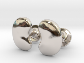 Milnerfield Salk Cufflinks - Pair in Rhodium Plated Brass