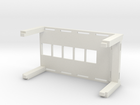 Stackable 1:64 Car Display Rack in White Strong & Flexible