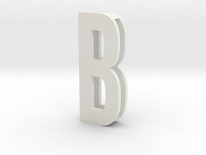 Choker Slide Letters (4cm) - Letter B in White Strong & Flexible