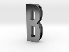Choker Slide Letters (4cm) - Letter B in Polished Silver