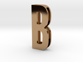Choker Slide Letters (4cm) - Letter B in Polished Brass