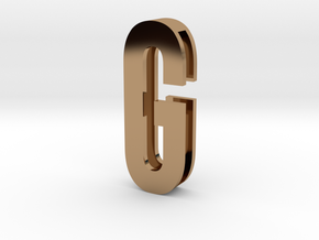 Choker Slide Letters (4cm) - Letter G in Polished Brass