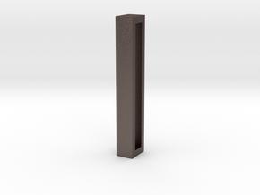 Choker Slide Letters (4cm) - Letter I in Polished Bronzed Silver Steel