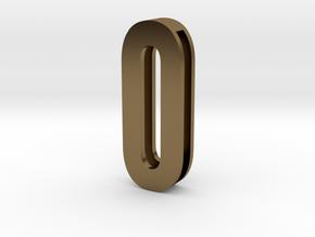 Choker Slide Letters (4cm) - Letter O or Number 0 in Polished Bronze