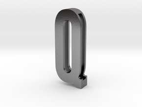 Choker Slide Letters (4cm) - Letter Q in Polished Silver