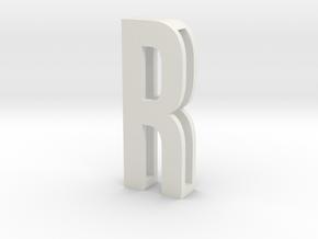 Choker Slide Letters (4cm) - Letter R in White Natural Versatile Plastic