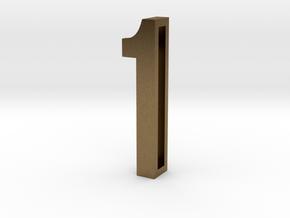 Choker Slide Letters (4cm) - Number 1 in Natural Bronze