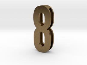 Choker Slide Letters (4cm) -Number  8 in Natural Bronze
