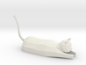 Decorative low-poly cat in White Strong & Flexible