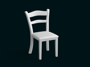 1:10 Scale Model - Chair 01 in White Natural Versatile Plastic
