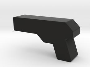 Blaster Game Piece in Black Natural Versatile Plastic