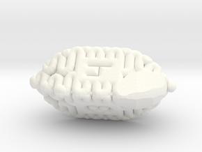 Brain d4 in White Processed Versatile Plastic
