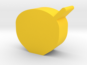 Bowl Game Piece in Yellow Processed Versatile Plastic