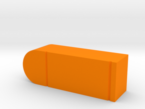 Bullet Game Piece in Orange Processed Versatile Plastic