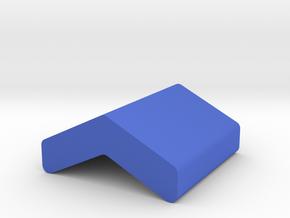 Chevron Game Piece in Blue Processed Versatile Plastic
