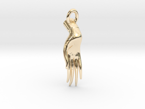 Varada Mudra Pendant/Charm 2.5cm in 14k Gold Plated Brass