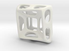 Nest ::: Square Pendant ::: v.01 in White Natural Versatile Plastic