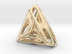 Nest ::: Triangle Pendant ::: v.01 in 14k Gold Plated Brass
