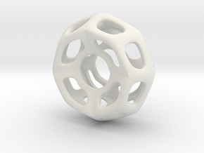 Nest ::: Circle Pendant ::: v.01 in White Natural Versatile Plastic