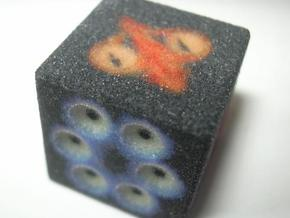 Eyes Die D6 in Full Color Sandstone
