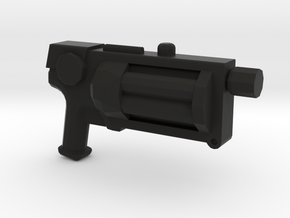 Steampunk Gun 1 in Black Natural Versatile Plastic