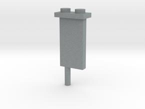 Minifig Shark Monument (knife blade) in Polished Metallic Plastic