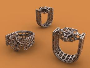 Tetrahedrical Ring in Matte Bronze Steel