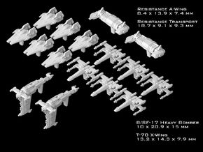 (Armada) Resistance Squadrons Set I in Smooth Fine Detail Plastic